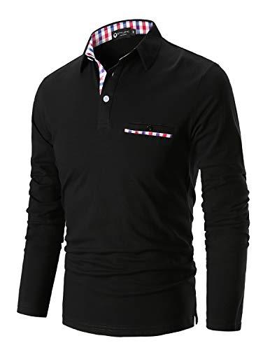 STTLZMC Mode Polo Homme Manche Longue Golf Poloshirt...