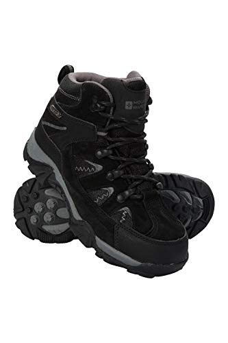 Mountain Warehouse Trail Kids Botas Impermeables - Zapatos Infantiles con Malla sintética en la Parte Superior, Plantilla EVA, Alta tracción - para Senderismo y Caminar