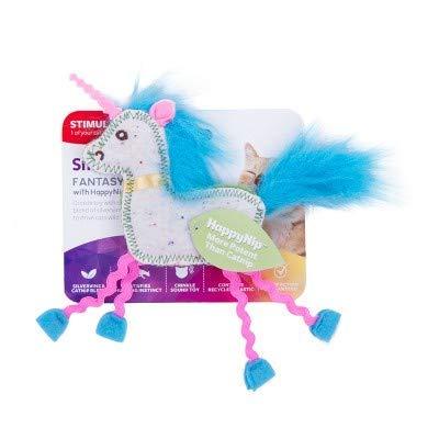 SmartyKat Fantasy Frenzy Crinkle Unicorn Catnip and Silvervine Plush Cat Toy