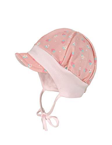 maximo Baby-Mädchen Jerseymütze Beanie-Mütze, Altrosa-pink-Erdbeere, 45
