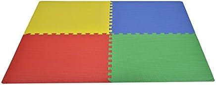 Outsunny HOMCOM Tappeto Gioco Bimbi 60x60cm Set 8 Pezzi, Materiale Isolante, Resistente all'umidità