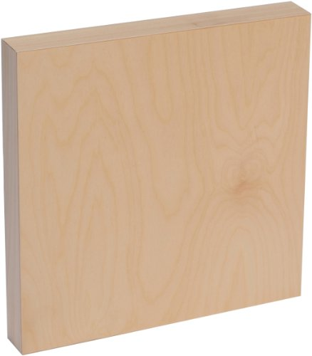 American Easel 18 Inch by 18 Inch by 1 5/8 Inch Deep Cradled Painting Panel (AE1818D)