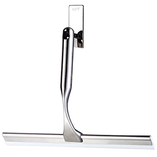 YOULET All-Purpose Shower Squeegee for Showers,Bathroom, Window and Car Glass,Heavy Duty Stainless Steel,10',10 Inches