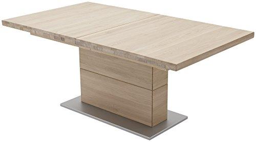 Robas Lund Esstisch Tisch ausziehbar Massivholz Eiche Bianco, Corato BxHxT 180x270 x 77 x 100 cm