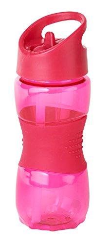 Thermo Rex Trinkflasche Grip | 400ml | rot | BPA-freier Kunststoff | nahezu bruchsicher u wiederverwendbar – mit integriertem Strohhalm |Wasserflasche