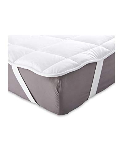 PLUSH SOFT REVERSIBLE MATTRESS PROTECTOR, DOUBLE or KING SIZE,ELASTICATED STRAPS (King Size)