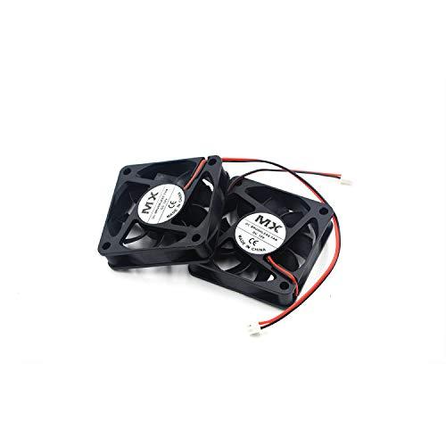 Karcy DC 12 V Ventilador refrigerador sin escobillas 2.4 x 2.4 x 0.6 Pulgadas disipador de Calor radiador para DIY Impresora 3D Set de 2
