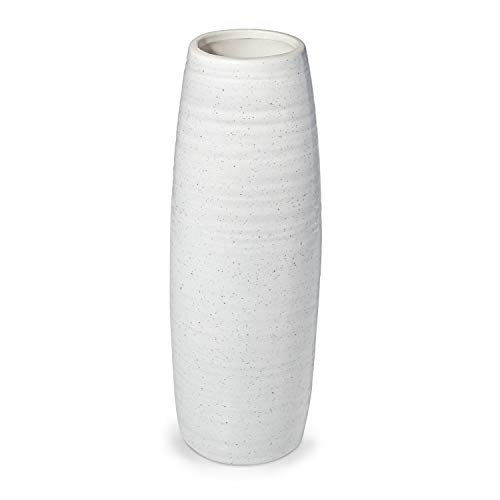 Dr.Cerart Vase Moderne Deko Blumenvase Bodenvase Vasen Dekoration Weiß