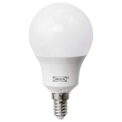 LEDARE - Bombilla LED (E14, 600 lúmenes, regulable, globo de ópalo, luz blanca)