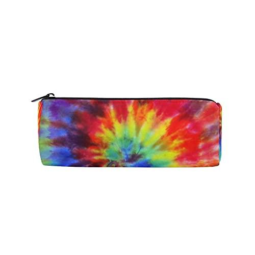 Colorido Swirl Tie Dye Estuche para lápices, bolsa de lápices con cremallera, bolsa de maquillaje para mujeres, niños, niñas, adolescentes, niños, enfermeras escolares