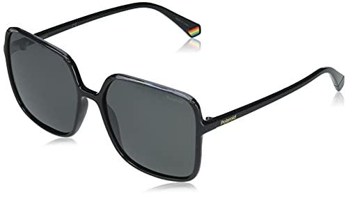 Polaroid PLD 6128/s Sunglasses, 08A/M9 Black Grey, 59 Womens