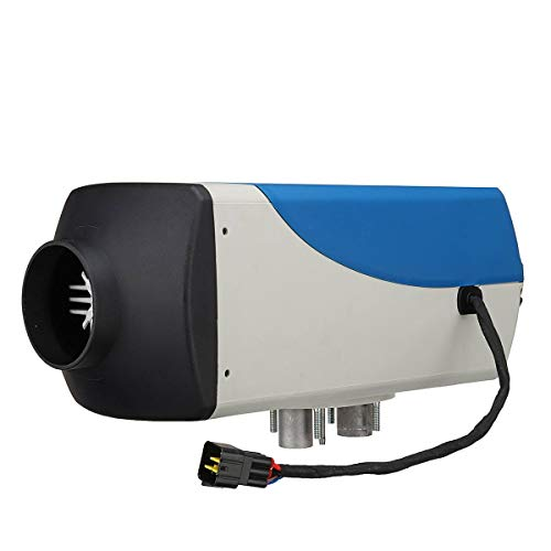 QWERTOUY 12V 8000W autoverwarming LCD-monitor luchtdiesel luchtverwarmer 8 KW staande verwarming voor boten bus met afstandsbediening en geluidsdemper