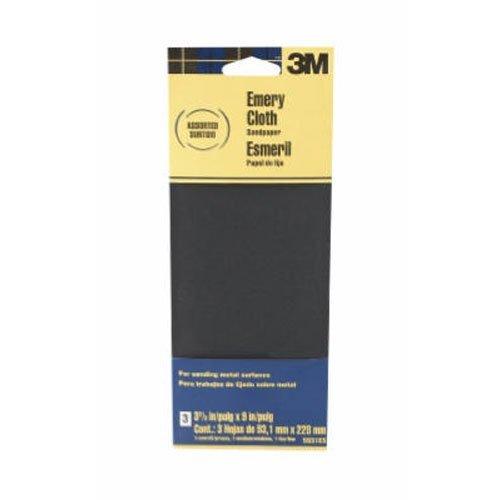 3M Assorted Grit Emery Cloth Sandpaper