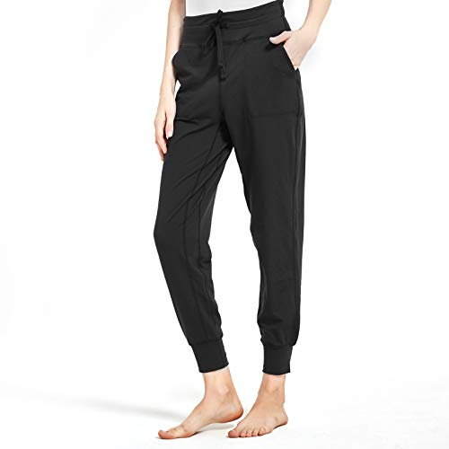 Inno Women's Joggers High Waisted Yoga Pants with Pockets Loose Leggings for Women Lounge, Athletic, Workout Black