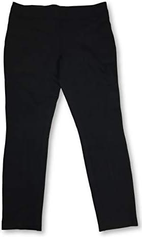 Hilary Radley Ladies Slimming fit Sits at Waist Ponte Pant Black Solid X Large product image