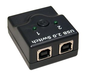 usb 2.0 switch - teilen sich ein Gerät (zB Drucker, Festplatte, Scanner) mit zwei PCs - wählen Sie einfach die pc über den Handschalter Einsatz