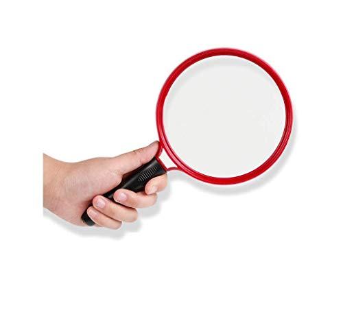 Handig en praktisch Vergrootglas van de Holding groot vergrootglas, Best Jumbo 10x handloep HD Glazen 130mm Maat for Ouderen Boeken lezen Kranten Maps Munten Sieraden Ambachten, Lightw WKY