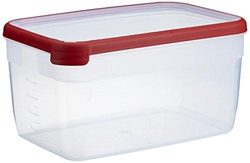 CURVER Boîte Grand Chef - Alimentaire Transparente Rectangulaire Plastique - Grande Capacité 6.5L - Boîte Conservation Tous Types d'Aliments - Adapté au Micro-Ondes, Lave-Vaisselle, Congélateur- Rouge
