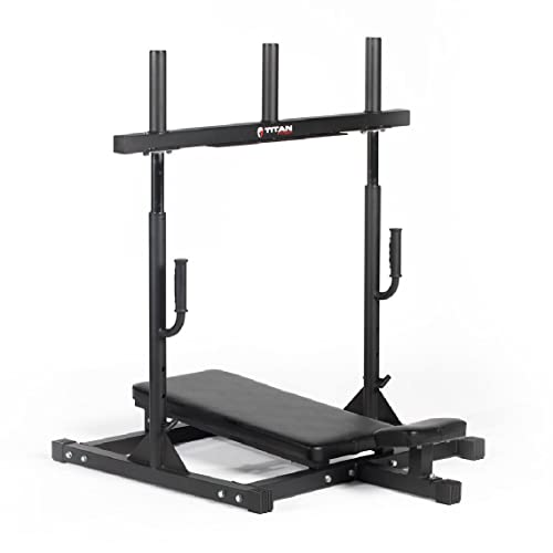 Titan Fitness Vertical Leg Press Machine, 400 LB Capacity, Leg Strengthening Workout, High Intensity...