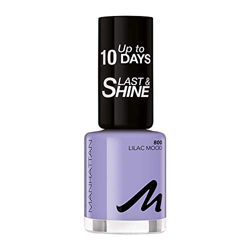 Manhattan Last und Shine Nagellack, Nr.800 Lilac Mood, 1er Pack (1 X 10 ml)