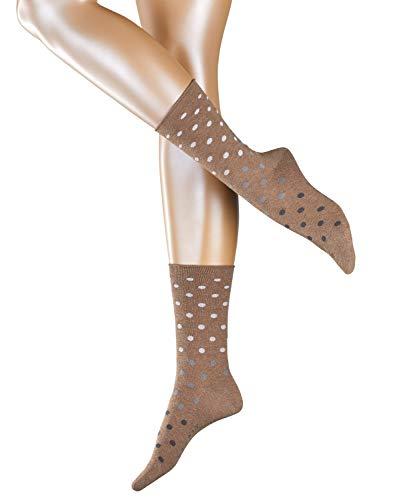ESPRIT Damen Socken Multicolour Dot - Baumwollmischung, 1 Paar, Braun (Nutmeg Melange 5410), Größe: 35-38