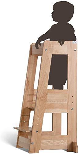 TiSsi Lernturm, Entdeckerturm Montessori mitwachsend Buche natur, beige, 100339