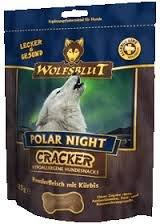 Wolfsblut 4 x 225 g Cracker Polar Night Galletas para perros sin cereales con 51{9c7b23ef2541f821b88e7c68b6744eee3d7c074cc570e35a7dde1fb440963349} de carne de reno