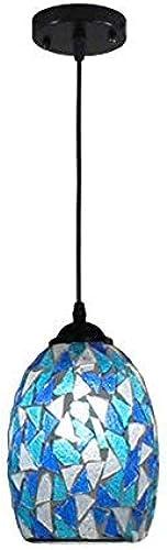 ● Mosaïque bleue méditerranéenne lampes de salle à hommeger suspendues lampe de cuisine classique bar café boutiques lumière pendentife ●