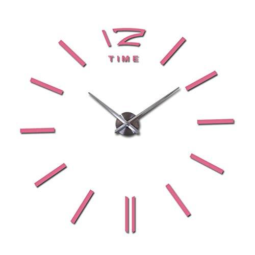 Aututer Diseño de Moda DIY Espejo acrílico Reloj de Pared Grande Reloj de Cuarzo todavía Vida Reloj Moderno Sala de Estar decoración del hogar Pegatina Reloj de Pared