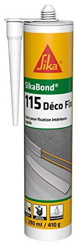 SikaBond-115 Déco Fix Blanc cassé, Colle acrylique pour fixation intérieur à maintien immédiat, multi-matériaux multi-supports, 290ml