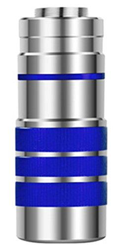 Yeying123 Monokulares Teleskop mit Großem Vergrößerungsfaktor Großes Objektiv Doppelfokus-Mobiltelefon mit Hoher Auflösung und Handy-Clip und Stativ aus Aluminiumlegierung,Blue