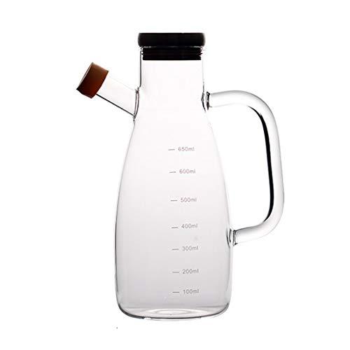ZXC Home Botella de Aceite Relleno de Vidrio Transparente de Aceite de Cocina de la Olla de Botella Creativo casero Aceite de sésamo Cocina de la Botella a Prueba de Fugas de Aceite (Size : A)
