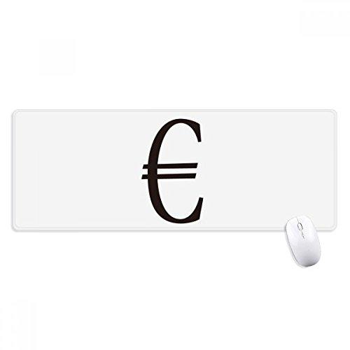 beatChong Moneda Símbolo del Euro Antideslizante Alfombrilla De Ratón Oficina Grande Juego Extendido Bordes Titched Regalo Estera Ordenador