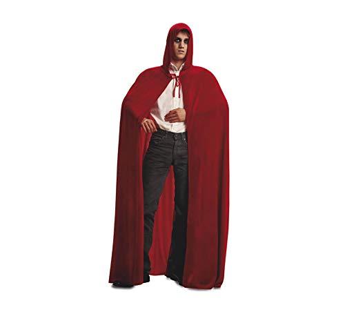 Viving Costumes Viving Costumes200260 Cape avec Capuche en Velours Rouge (Taille Unique)