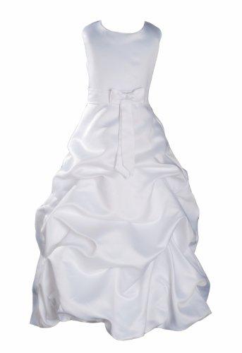 Cinda MŠdchen Brautjungfer/Heilige Kommunion Kleid Wei§ 134-146