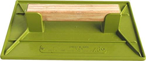 Taloche plastique ABS vert rectangulaire Outibat - Dimensions 26 x 42 cm