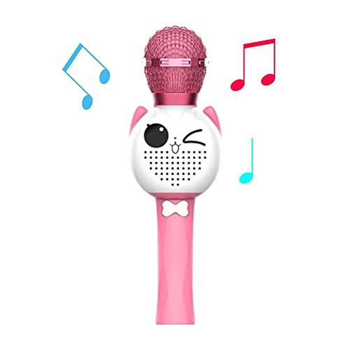 BSTCAR Micrófono de juguete para niños, juguete inalámbrico con micrófono de karaoke, micrófono multifuncional, regalos sorpresa para niños y niñas bebé