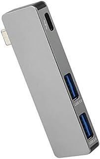 محاور USB جديدة - موزع يو إس بي سي 3 متعدد الصاعقة مع منفذ يو إس بي إلى يو إس بي 3.0 النوع سي موزع لجهاز ماك بوك برو اير م...