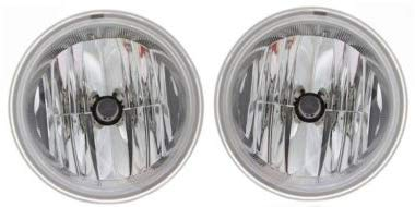 Evan-Fischer Front Fog Light Assembly Compatible with 2006-2010 Ford F-150 with Clear Trim Set of 2 Passenger and Driver Side