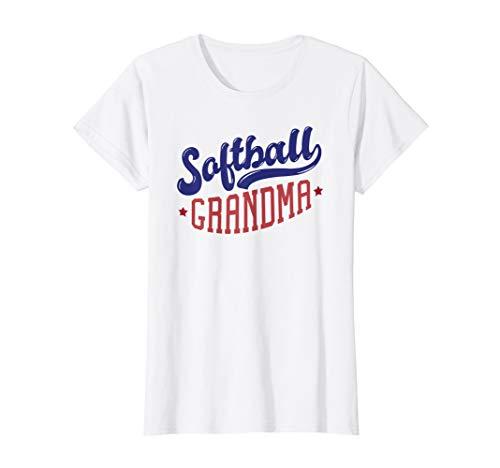 Womens Softball grandma - Team Sports Fun Graphic T-Shirt