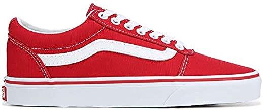 Vans Ward Low Top Sneaker - Racing Red/White (9.5) (Racing Red/White)