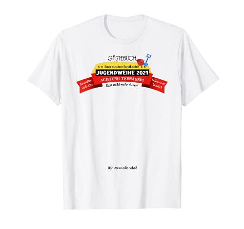 Gästebuch Geschenk-idee Konfirmation Feier Jungs Mädchen fun T-Shirt