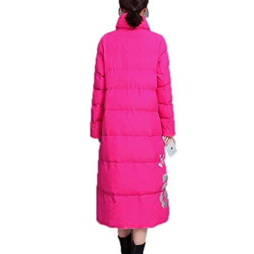 Damen Alternative Daunenjacke, Damen Daunenjacke Ultraleichter Wintermantel mit Tasche Gr. 48, rosarot