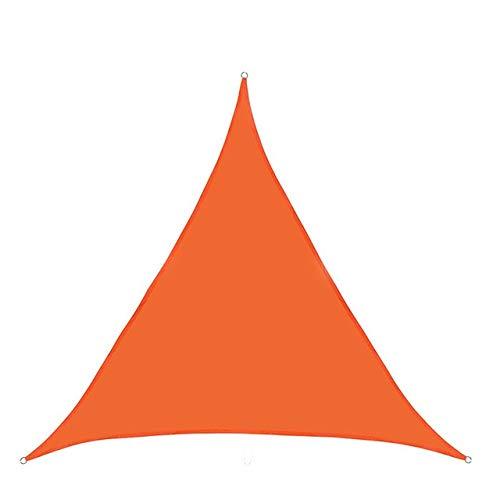 HUANGRONG 300D Impermeable Cortina de poliéster Triángulo de Vela Jardín Terraza Piscina Canopy Sombrilla de excursión Que acampa Yard Vela Toldo Arena Desgarro (Color : Orange)