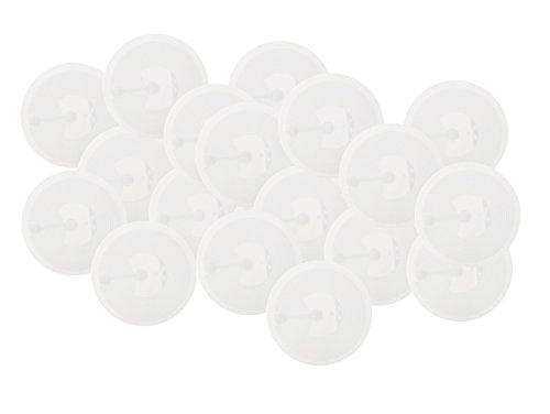 25 NFC Tag Pegatinas 215, para Chip como Amiibo Figuras, 30 mm, Blanco, 100% Compatible, NXP NFC Chip NTAG 215