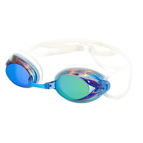 YUZHUKKKPYZ YJ - Gafas de natación para adultos, hermosas, prácticas e insípidas, impermeables, coloridas, de buen aspecto, duraderas (color: azul cielo)