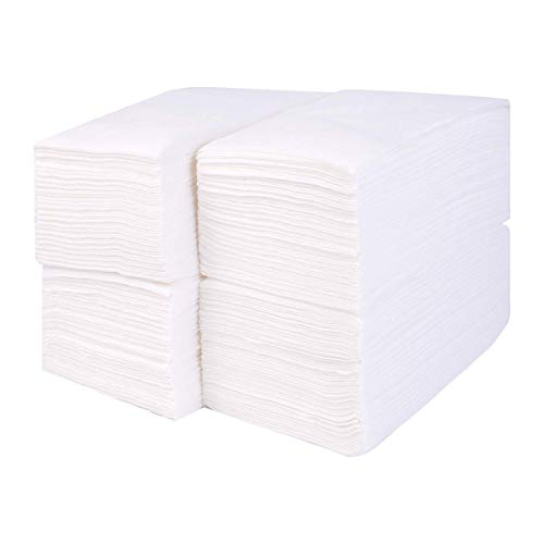 Gmark Linen-Feel Guest Towels – Premium Cloth-Like Paper Hand Napkins, Disposable White Guest Towel (200 Pack) for Kitchen, Bathroom, Weddings or Events GM1059