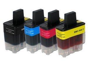 4 Druckerpatronen Tinte für Brother DCP 110C DCP 115C MFC 210C MFC 215C MFC 5440CN ersetzen LC 900