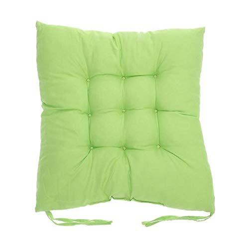 Cojín para asiento de 11 colores, de algodón, color perla, para la parte trasera de la silla, sofá, almohada, butacas, cómodo cojín para silla de invierno, decoración del hogar, color verde