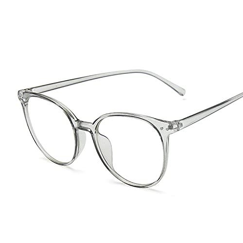 FEIHAIYANY Gafas de sol para mujer, estilo retro, redondas, para computadora, para oficina, para juegos, universidad, color de la montura: gris
